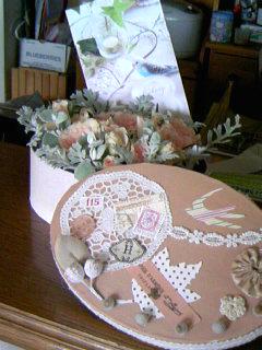 ボックスコラージュにバラをつめてプレゼント2009