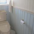 一階トイレの腰壁
